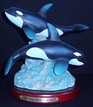 Twin Killer Whales Sculpture