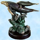 Humpback Mother and Calf Whales Sculpture